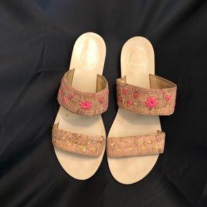 • C O R K • neon sandals